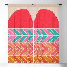 Retro Sunset – Fuchsia Blackout Curtain