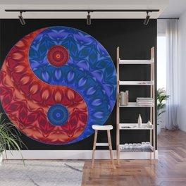 red blue ying yang Wall Mural