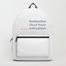 Backpacker Find Your Adventure Rainbow Backpack