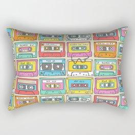 Nostalgia Audio Music Mix Cassette Tape Rectangular Pillow