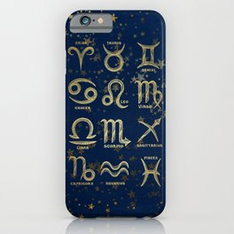 The 12 Zodiac Signs iPhone Case