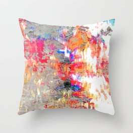 Look On The Bright Side Multcolored Abstract Throw Pillow