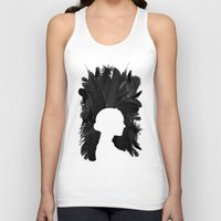 black swan Tank Tops featuring Black Swan by Bill Pyle