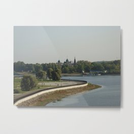 The Kotorosl Embankment, Yaroslavl Metal Print