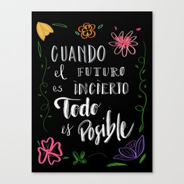 FUTURO POSIBLE Canvas Print