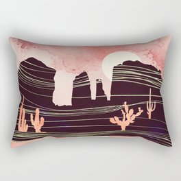 Rose Desert Rectangular Pillow