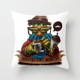 Hipsterstein's Monster Throw Pillow