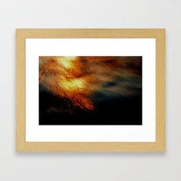 Fiery Framed Art Print