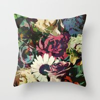 karu kara Throw Pillows featuring Daisy among Roses by Klara Acel