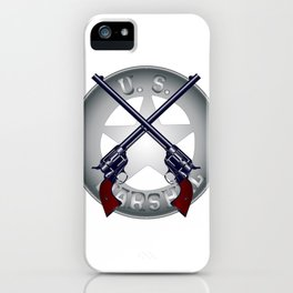 US Marshal Guns and Badge iPhone Case