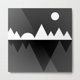 Abstraction 019 - Minimal Geometric Triangle Metal Print