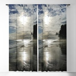 Abandoned Silhouette Beach Blackout Curtain