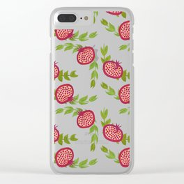 Love Pomegranates Clear iPhone Case