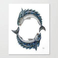 Fish Circle Canvas Print