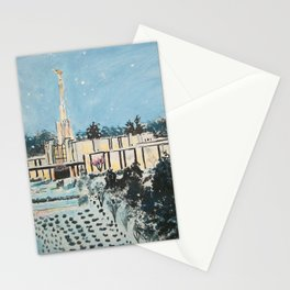 Atlanta Georgia LDS Temple Snowfall Stationery Cards