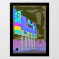 South of the Border Art Print