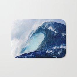 Big Blue Wave Bath Mat