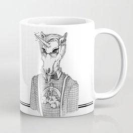Ironic Hipster Unicorn Coffee Mug