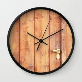 Wooden door Wall Clock