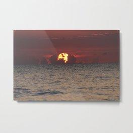 Fort Lauderdale Sun Rise Black and White Metal Print