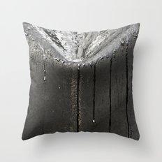 Silver Rain Throw Pillow