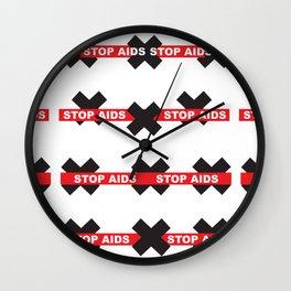 Stop Aids_01 by Victoria Deregus Wall Clock