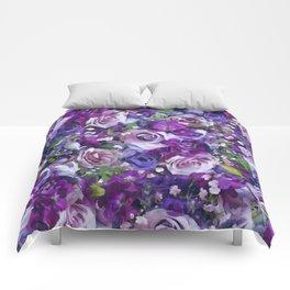 Romantic flowers III Comforters