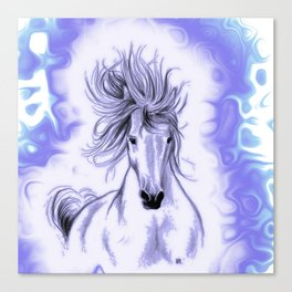 Blue Andalusian Flares Canvas Print