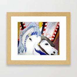 Carousel Horses Seaside Amusements Fine Art Framed Art Print