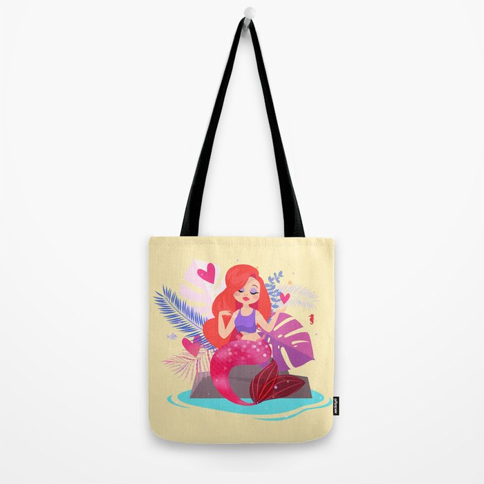Mermaid Jessica Rabbit Tote Bag