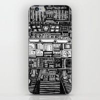 cabin iPhone & iPod Skins featuring Lost cabin 666 by Marcelo Romero