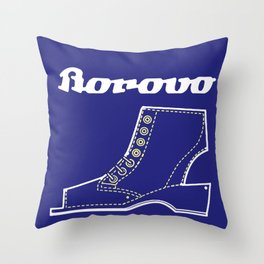 Borosana Borovo -  white nostalgic ortopedic shoe from Yugoslavia Throw Pillow