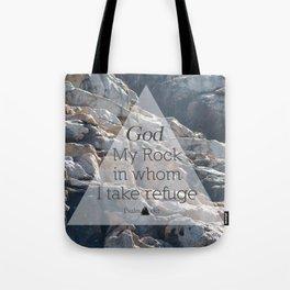 My God My Rock Tote Bag