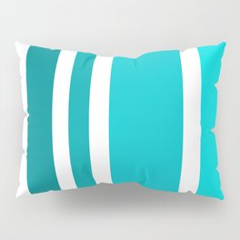 Striped Ombre in Turquoise Pillow Sham