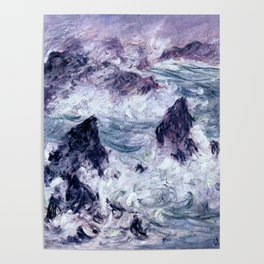 Monet : Storm At Belle Ile Poster