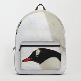 Gentoo Penguin Walking Through Snow Backpack
