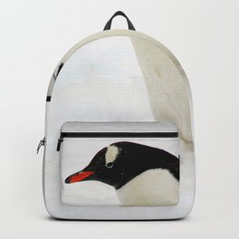 Gentoo Penguin Walking Through Snow Backpack