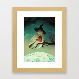 Halloween witch  Framed Art Print