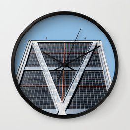 Minimalist Architecture in Madrid II Wall Clock