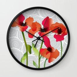 Poppy variation 11 Wall Clock