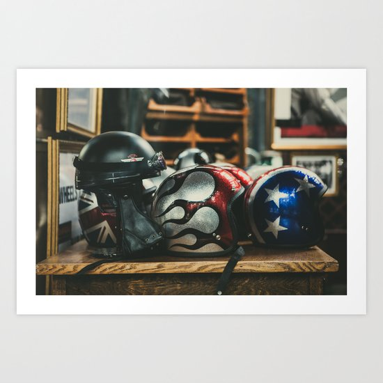 Helmets Art Print