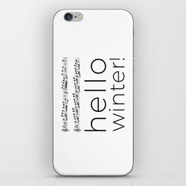 Hello winter! (white) iPhone Skin