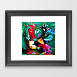 Taino Dance - Puerto Rican and Caribbean Vejigantes artwork Framed Art Print