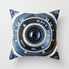 Photo lens of the old Soviet camera. Throw Pillow