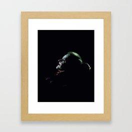 The clown prince of crime Framed Art Print