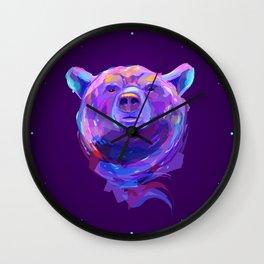 Neon Bear Wall Clock
