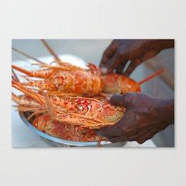 Jamaican Lobsters Canvas Print