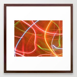 Christmas lights. Framed Art Print
