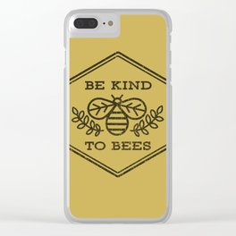 Be Kind To Bees Clear iPhone Case
