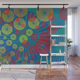 Psychodelic Spirals colorful Wall Mural